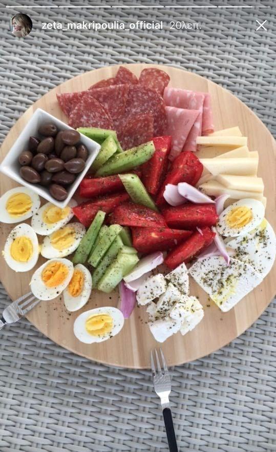 Το καλοκαιρινό πιάτο που ετοίμασε η Ζέτα Μακρυπούλια στους φίλους της