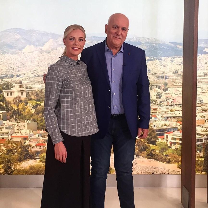 Ο Γιωργος Παπαδακης με τη Ζετα Μακρυπουλια