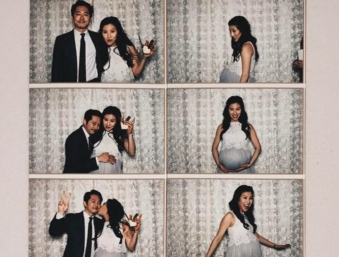 Ο Steven Yeun με τη σύζυγό του