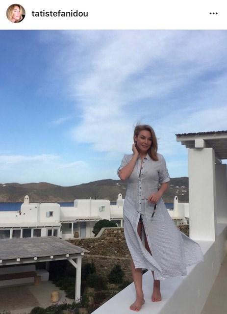 Η Τατιάνα Στεφανίδου στις διακοπές της