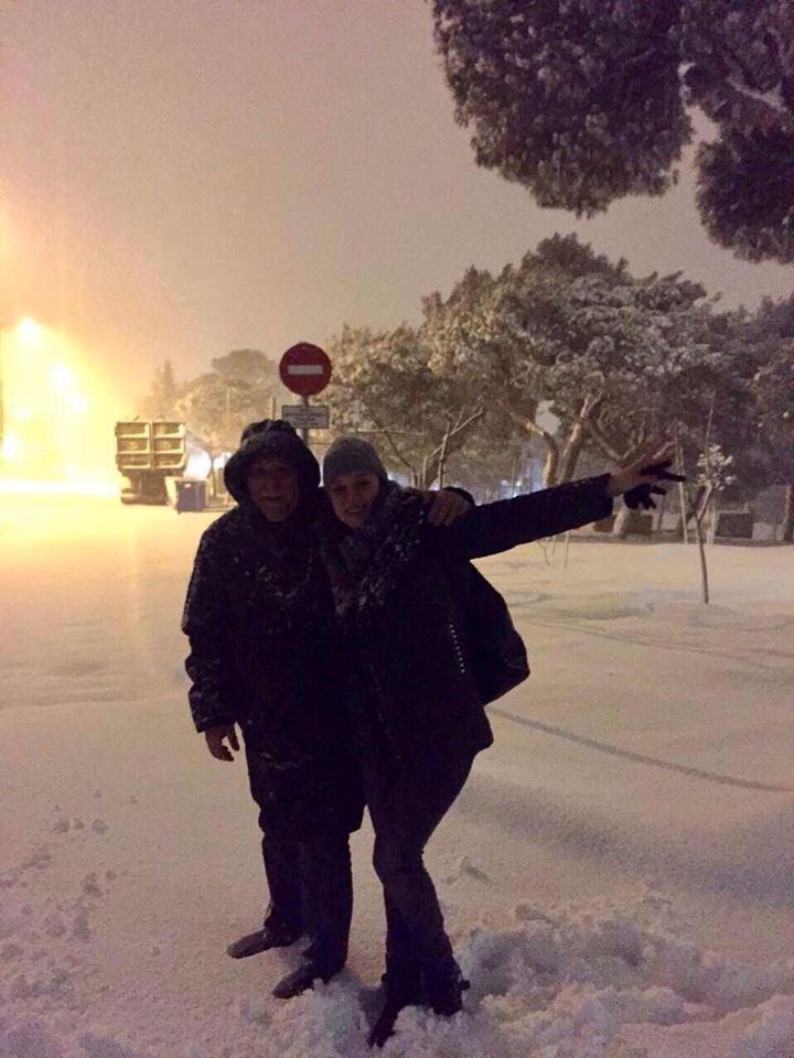 Ο Γιώργος Παπαδάκης στα χιόνια