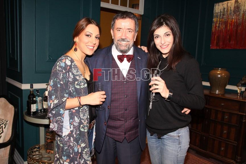 Ο Σπύρος Παπαδόπουλος με τη σύντροφο του Νικολέτα Κοτσαηλίδου.