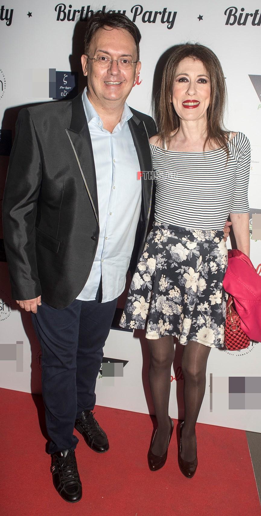 Ο Γιάννης Καζανίδης με την Άβα Γαλανοπούλου