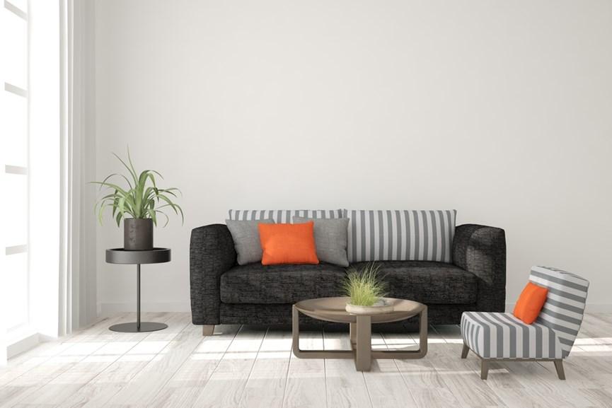 Σαλόνι με έναν μούρο καναπέ