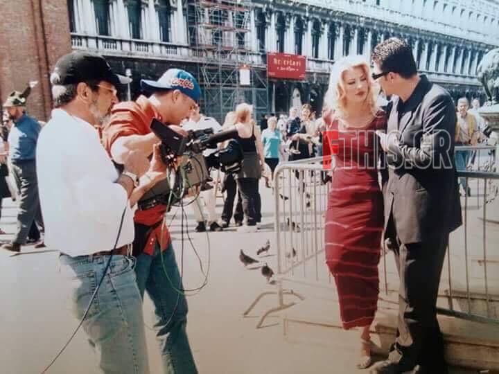 Η Ελένη Μενεγάκη με τον Αντώνη Ρέμο στη Βενετία