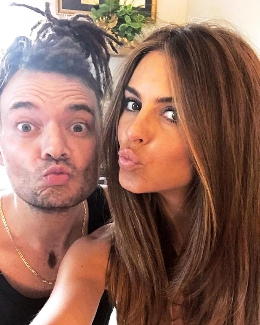 Ο Δημήτρης Γιαννέτος με τη Maria Menounos