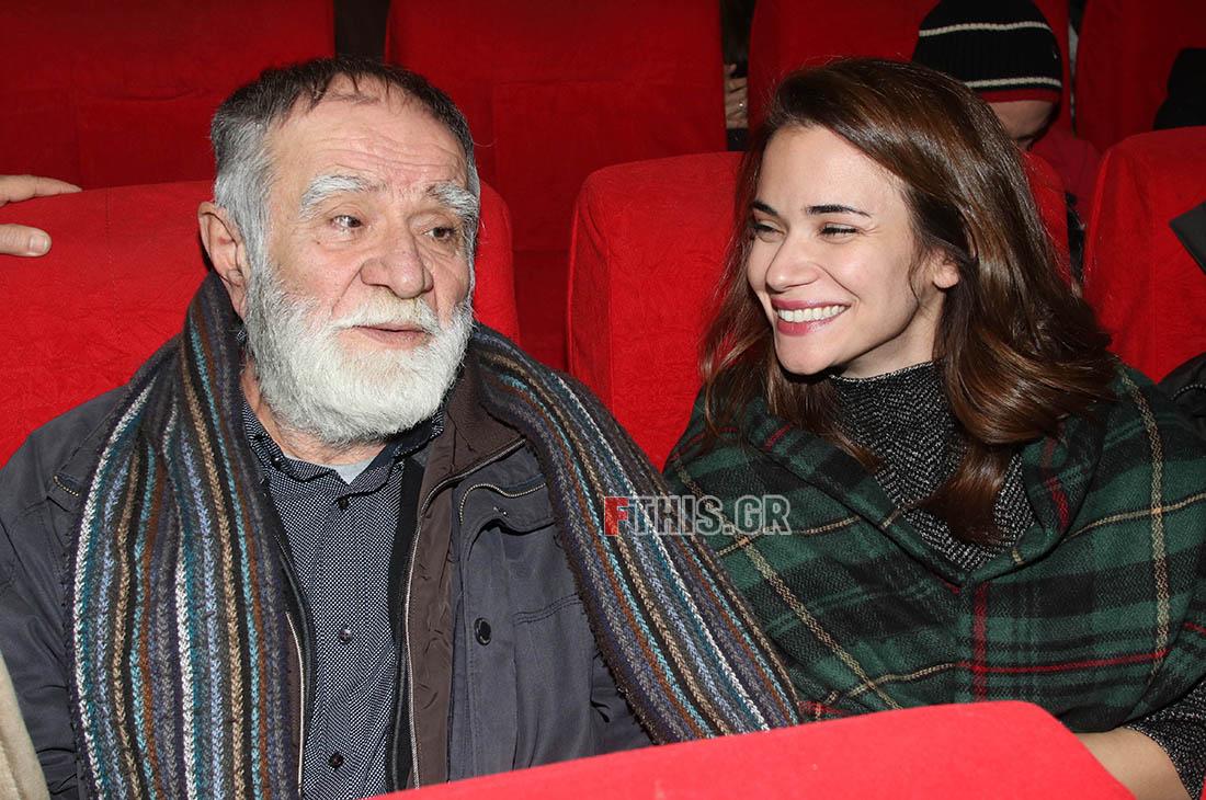 Ο Νίκος Μπουσδούκος με την κόρη του Αννα