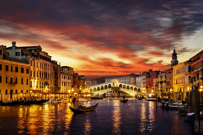 Ηλιοβασίλεμα στη Βενετία