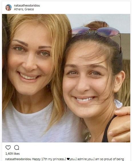 Η Νατάσα Θεοδωρίδου με την κόρη της.