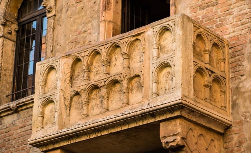 Το μπαλκόνι της Ιουλιέτας στη Βερόνα της Ιταλίας